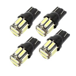 car instrument panel lighting Promo Codes - 4Pcs W5W 10-7020 SMD Car T10 LED 194 168 Wedge Replacement Reverse Instrument Panel Lamp White Blue Bulbs For Clearance Lights