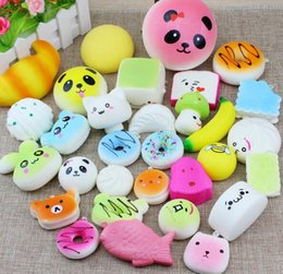 Wholesale wholesale toy prices - 10 20 30 Pack Squishies Simulation Toys Donut Bread Panda Squishies Phone Straps Best Wholesale Price