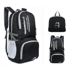 waterproof travel folding backpack 2019 - New outdoor sports bag city  walking backpack portable light shoulder 13a0c50bf6281