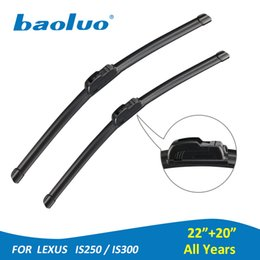 """Wholesale Car Wipers Blades - BAOLUO 1 Pair Windshield Wiper Blades For Lexus IS250 IS300 22""""+20"""" Rubber Windscreen Wipers Auto Parts Car Accessories"""