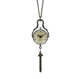 Wholesale Mini Pocket Watch Necklaces - Antique Mini Glass Ball Shape Bull Eye Unisex Pendant Necklace Pocket Watches with Slim Chain Gift for Men Women