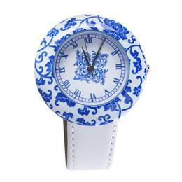 48593d03806 Relógio De Cerâmica chinesa Azul E Branco Porcelana China Teste Padrão  Auspício Pulseiras Mulheres Relógios de Luxo Da Marca Novo