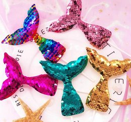 Wholesale flashing fish - 7 Designs Pearl Fish Tail Cake Insert Plug Flash Sequins Mermaid Tail Cake Decoration For Home Celebration Birthday Cakes Supplies AAA217