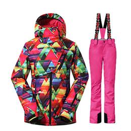 945eea776e GSOU SNOW Winter -35 Degree Women Ski Suit Female Snowboarding Suits  Waterproof 10K Super Warm Ski jacket + Pants Outdoor Sport