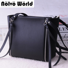 Wholesale Red Light Products - 55% Discount 5 Colors Newest product synthetic leather double zippers tassel women handbag ladies shoulder bags composite bags