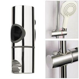 Wholesale chrome piece - 25mm ABS Chrome Shower Rail Head Slider Holder shower holder Adjustable Bracket Standard Replacement mount Accessories