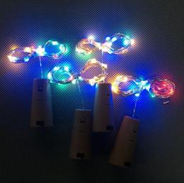 Iluminação de cobre vermelho on-line-Luz de cortiça LED Copper Filament Lamp Rolha De Garrafa De Vinho Tinto Corda com o Botão Da Bateria AG13 2 m 20 Luzes BBA24