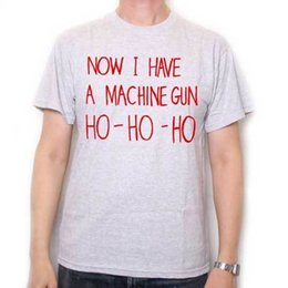 0776da256e1 Cotton Shirts Inspired by Die Hard T Shirt - Now I Have A Machine Gun Ho Ho  Ho Cult Film Tee ! Plus Size Casual Clothing