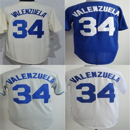 Wholesale Free Cool Logos - 2015 New Mens Womens Kids #34 Fernando Valenzuela Jersey Los Angele Cool Base Flex base Baseball Jerseys Free Shipping Embroidery logos