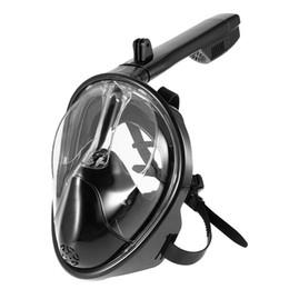 Canada 2018 nouveau masque de plongée sous-marine anti-buée masque facial complet masque de plongée sous-marine tuba ensemble vue à 180 degrés équipement de plongée supplier snorkel equipment Offre