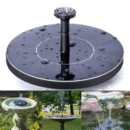 Wholesale outdoor garden pond - Outdoor Solar Powered Water Fountain Pump Floating Outdoor Bird Bath For Bath Garden Pond Watering Kit 30pcs OOA5133