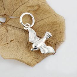 incanta fascini Sconti 925 gioielli moda in argento massiccio bella uccello rondine ciondola ciondolo fascino gioielli fai da te a2914