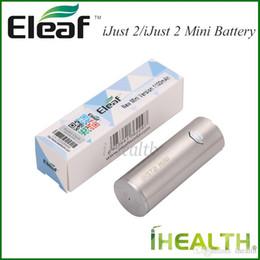 2019 оригинальные батареи eleaf Eleaf iJust 2 батареи 2600nah iJust 2 мини батареи 1100 мАч компактный печатной платы с USB порт зарядки 100% оригинал скидка оригинальные батареи eleaf