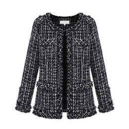 Wholesale Ladies Short Black Cotton Jackets - Autumn Winter Coats for Women New Ladies Europen Style Women's Stylish Casual Formal Wool Jacket Coats