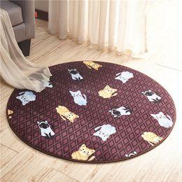 Wholesale Livingroom Carpets - Circular cartoon non slip shower mat,super soft mat,bath room kitchen livingroom water adsorption carpet table chair carpet