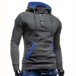 Wholesale Double Collar Hoodie Men - Wholesale- New Fashion Brand Hoodies Men Sweatshirts Casual Sportswear Man Hoody Pullover Long-sleeve Sweatshirt Men Slim Fit Men Hoodie