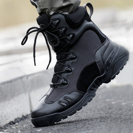 Wholesale Desert Special Combat Boots - Brand Men Military Boots Special Forces Army Tactical Desert Combat Boots Hiking Outdoor Shoes Leather Snow Boots