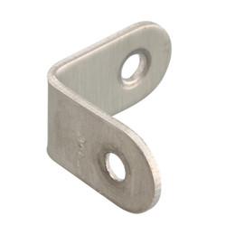 Großhandel eckklammern online-Großhandel Brand New Corner Brace 20/25/30 / 40mm Edelstahl 90 ° Winkel Bracket Pelmet Reparatur