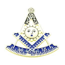 2019 albañil MQCHUN Gold Masonic Solapel Pins Masones Gratis Insignia Broche Pins Masonería Masonería Master Mason Aleación Metal Craft Gift para Hombres albañil baratos