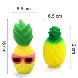 Wholesale Fun Novelties - Jumbo Squishy Pineapple Slow Rising Cute Phone Straps Colossal Fun Pineapple Kid Toy Squeeze Soft Relieve Stress Charm Novelty Gag Toys