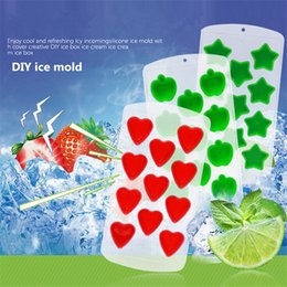 Wholesale Food Ice - Wholesale Summer creative food grade silicone fruit modeling ice lattice mold refrigerator ice box children silicone ice mold