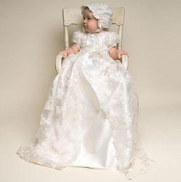 Les robes de première communion de bébé en dentelle manches courtes col rond ensemble bébé filles robe blanc ivoire pour une occasion formelle ? partir de fabricateur