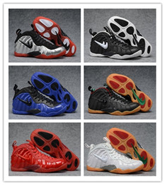 Wholesale Cheap Winter Boots Online - Cheap On Sale Basketball Shoes Men High Cut Mens Casual Shoes luxury designer Penny Hardaway Red Suede Volt White Black Sneakers Online