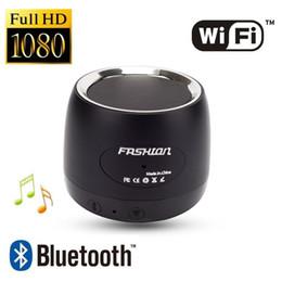 Deutschland Drahtlose WiFi-Kamera Bluetooth-Lautsprecher-Kamera HD 1080P Musik Lautsprecher Überwachungsnetzwerk IP-Kamera zu Hause Sicherheit DVR cheap security speakers Versorgung