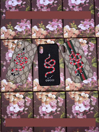 Wholesale fly cases - 2018 For iPhone X Case Luxury Brand Embroidery Flower Fly UFO Phone Case for iphone 7 7plus 8 8plus hard back cover for iphone 6 6S 6plus