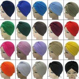 Wholesale 2018 Nouvelle Mode Doux Indien Style Yoga Chapeau Cap Turban Chapeau Cloche Chemo Couverture De Cheveux Arabian Head Wrap Cap