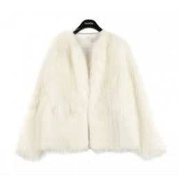 Wholesale Ladies Mink Jackets - 2016 New Winter Women Warm Faux Fur Coat Women Vintage Mink Fox Jacket 10 Colors Size S M L XL Hight Qualtiy Lady Costumes