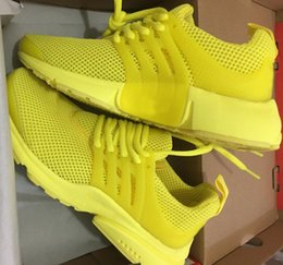 Wholesale Breathe Lighting - 2018 Top Quality Presto Running Shoes Men Women BR QS Breathe Black White Yellow Sports Outdoor Casual Walking Sneakers 36-46