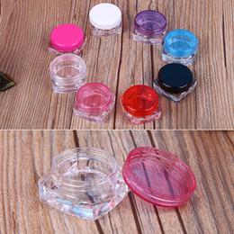 2019 3 g topf 100 teile / los Reise Kosmetische Probe Container 3g Kunststoff Topf Gläser Kosmetische Container Reisebeispiel Fall 10 Farben rabatt 3 g topf