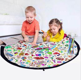 Çocuklar doodling çanta oyuncak organizatör DIY boyama ev dekorasyon karikatür çanta büyük kapasiteli kumaş yeni tasarım Organizatör kese FFA436 supplier diy home organizer nereden diy ev organizatörü tedarikçiler