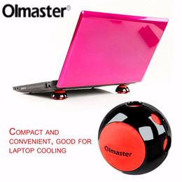 Wholesale Portable Laptop Stand Cooling - Olmaster Mini Portable Compact Non-slip Silicon Cooling Cooler Stand Ball Novelty for All Size Laptop Notebook Macbook