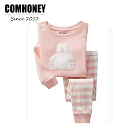 Wholesale Cheap Kids Clothing Sets - Baby Pajamas Kids Sleepwear Set Cheap Girls Long Sleeve Cartoon Boys Pyjama Children Pijama Bebe Sleep Clothes New Year Clothing