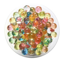Wholesale Gel Beads For Flowers - Hydrogel Balls Growing Water Balls Pearl Shape Water Beads Crystal Gel Aqua Jelly Beads Grow Crystal Soil For Flower Home Decor