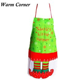 Wholesale Elf Wedding - 2017 New Arrivals Christmas Printing Elves Apron Whimsy Novelty Gift Kitchen Apron Letters Supply Wedding Free Sept 26