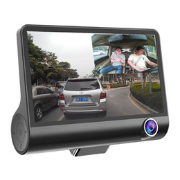 Wholesale Car Driving Video Recorder - Dual Camera NO Card 1080P Night Vision Vehicle Driving Recorder Gravity Sensor 170 Degree Angle Car DVR Video Recorder Dash Cam