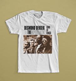 2019 roi personnalisé Desmond Dekker Et Les Promotions King Of Kings T Shirt Musique Ska Haute Qualité Personnalisé Imprimé Tops Hipster Tees T-shirt roi personnalisé pas cher