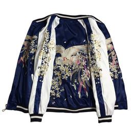2019 encaje negro chaqueta con cuentas corta LYFZOUS floral y chaqueta de bombardero de bordado de Phoenix mujeres Harajuku piloto chaqueta Casual chaquetas básicas Coat prendas de vestir exteriores para mujer Tops