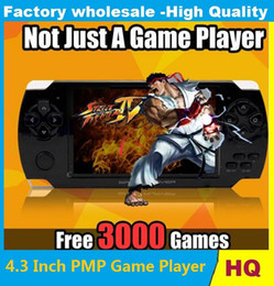 Wholesale Game Mp4 Mp5 - PMP 4GB 8GB handheld Game Console 4.3 inch screen mp4 player MP5 game player real 8GB support for psp game,camera,video,e-book NEW