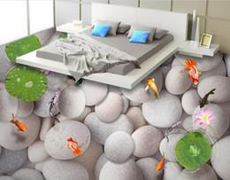 2019 pintura de peixes sala de estar Assoalho 3D que pinta o papel de parede 3D para paredes 3 d para a cozinha do quarto da sala de visitas Grandes azulejos de assoalho dos peixes 3d do eggstone pintura de peixes sala de estar barato