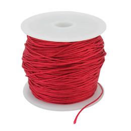 Pulsera de cadena roja diy online-Nuevo 40m rojo nilón chino abalorios cordón de la joyería para DIY collar pulsera trenzado String Making