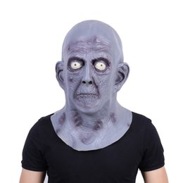 Wholesale old men mask - Scary Gray Old Man Masks Halloween Latex Party Mask Elderly Bald Cosplay Props Fancy Dress Carnival Mask