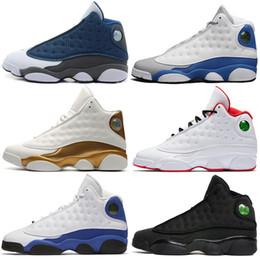 best cheap 23a2f d894d 13 13s Mens Basketball Schuhe Phantom Chicago GS Hyper Royal schwarze Katze Flint  Breed Brown DMP Italien Blue Männer Sport Turnschuhe Designer-Trainer