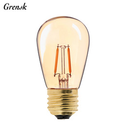 Wholesale vintage bedroom styles - Vintage LED Filament Bulb Gold Tint Edison ST45 Pearl Style 1W Super Warm Decorative Household Lamp Dimmable
