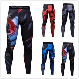 5833eaa51d02 2017 Trending Men 3D Print Compression Pants Base Layer Exercise Joggers Mens  Fitness Anime Fitness Skinny Leggings Male Tights