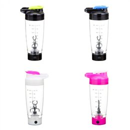 Wholesale coffee blender - MeyJig 600ml Electric Automation Protein Shaker Blender My Water Bottle Automatic Movement Coffee Milk Smart Mixer Drinkware