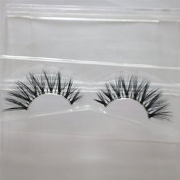 652f1f6266c fake fiber eyelashes wholesale 2019 - CLEAR band Thick False eyelashes  Handmade 3D silk Faux Mink